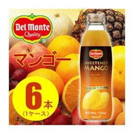 その他 【まとめ買い】デルモンテ マンゴー 20% 瓶 750ml×6本(1ケース) ds-1235923