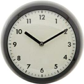その他 北欧風 レトロクロック/時計 【ブラック】 幅23.5cm スチール・ガラス製 〔リビング ダイニング〕 ds-1950776