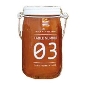 スロウワー SLOWER(スロウワー) グラスライト テーブルナンバー オレンジ 03 EE-05833