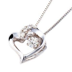 その他 【訳あり・在庫処分】 ダイヤモンドペンダント/ネックレス 一粒 K18 ホワイトゴールド 0.1ct ダンシングストーン ダイヤモンドスウィングネックレス 揺れるダイヤが輝きを増す ハートモチーフ 揺れる ダイヤ 鑑別書付き ds-1998620