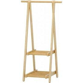 不二貿易 木製キッズハンガー2段)NA 6110-6-60-2(KI【3個セット】 FJ-15191