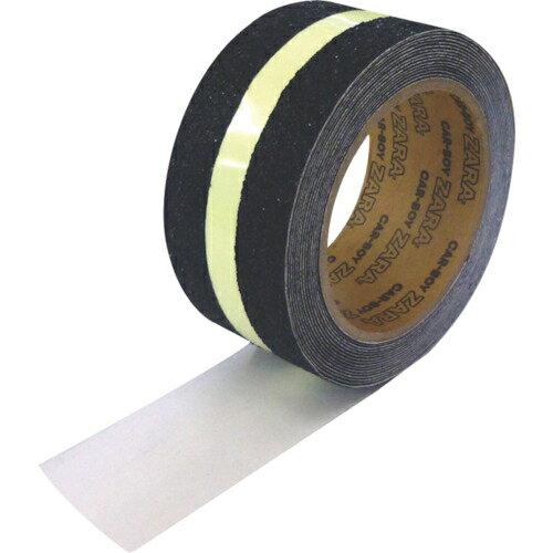 トラスコ中山 カーボーイ すべり止めテープザラザラ 蓄光ライン ST162318