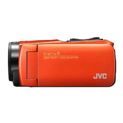 JVC ハイビジョンメモリームービー(ブラッドオレンジ) GZ-RX680-D