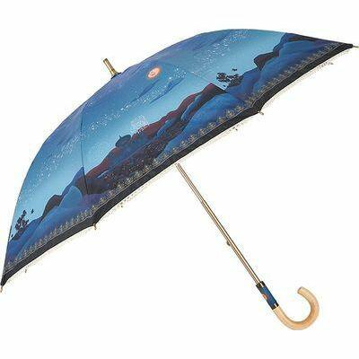ディズニー 長傘 日傘/晴雨兼用 キャンバスパラソル アラジン/マジカルナイト 8本骨 50cm FF-02831