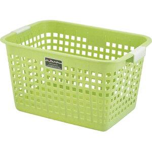 不動技研 ニューキングバスケット グリーン F05903 (洗濯かご おもちゃ 収納 カゴ) 4962191059228