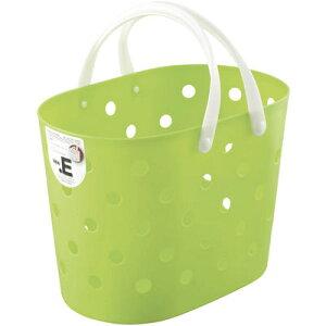 不動技研 ニュードットEバスケット グリーン F45901 (洗濯かご レジャー 収納 カゴ 持ち手 付き) 4962191459202
