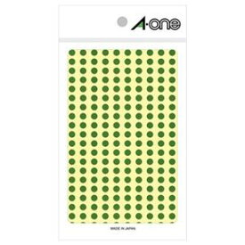 その他 (まとめ) エーワン カラーラベル 丸型 直径5mm緑 07063 1パック(1800片:200片×9シート) 【×30セット】 ds-2117669