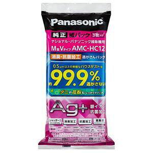 その他 (まとめ)パナソニック消臭・抗菌加工「逃がさんパック」 M型Vタイプ AMC-HC12 1パック(3枚)【×3セット】 ds-2138211
