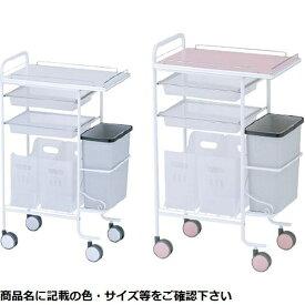 松吉医科器械 アプリワゴン(ダストボックス付) SN-AP005P(ピンク) 23-3404-01