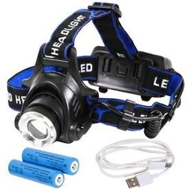 その他 Tomo Light(トモライト) LEDヘッドライト 充電式 地震 台風 大雪 防災 特化型 単眼ライト PSE認証 18650型リチウムイオンバッテリー 2本付属【単品】 ds-2167217