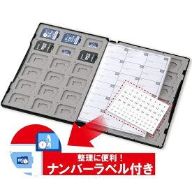 エレコム DVD トールケース型 マイクロSDカード・SDカードケース 72枚収納(SD 36枚 + microSD 36枚) 管理・保管がし易いナンバリングシール インデックスカード インデックスジャケット付属 CMC-SDCDC02BK