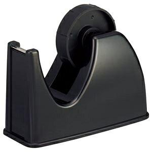 その他 (まとめ) TANOSEE テープカッター台 大巻・小巻両用 黒 1台 【×30セット】 ds-2237040
