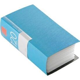 その他 (まとめ) バッファローCD&DVDファイルケース ブックタイプ 120枚収納 ブルー BSCD01F120BL 1個 【×10セット】 ds-2224397