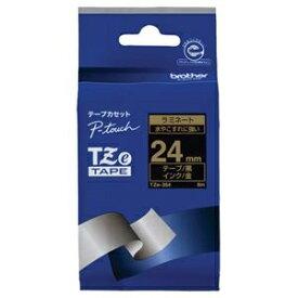 その他 (まとめ) ブラザー ピータッチ TZeテープラミネートテープ 24mm 黒/金文字 TZE-354 1個 【×10セット】 ds-2227542