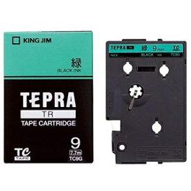 その他 (まとめ) キングジム テプラ TR テープカートリッジ パステル 9mm 緑/黒文字 TC9G 1個 【×10セット】 ds-2227622