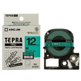 その他 (まとめ) キングジム テプラ PRO テープカートリッジ 強粘着 12mm 緑/黒文字 SC12GW 1個 【×10セット】 ds-2227948