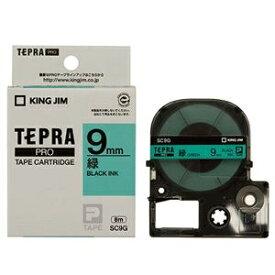 その他 (まとめ) キングジム テプラ PRO テープカートリッジ パステル 9mm 緑/黒文字 SC9G 1個 【×10セット】 ds-2228098