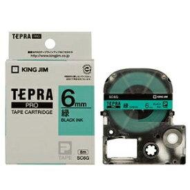 その他 (まとめ) キングジム テプラ PRO テープカートリッジ パステル 6mm 緑/黒文字 SC6G 1個 【×10セット】 ds-2228103