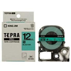 その他 (まとめ) キングジム テプラ PRO テープカートリッジ パステル 12mm 緑/黒文字 SC12G 1個 【×10セット】 ds-2228107