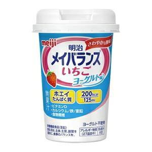 その他 メイバランスMiniカップ いちごヨーグルト味 24個入 ds-2260686