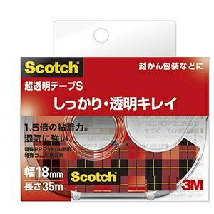 その他 (まとめ) スリーエムジャパン スコッチ 超透明テープS 18mm×35m ディスペンサー付【×50セット】 ds-2281008
