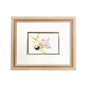 その他 淡い色使いで優しい色調■いわさきちひろ絵画額 ピンク 乳母車と赤ちゃん ds-2313076