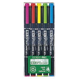 ゼブラ 蛍光オプテックス・ケア 5色セット WKCR1-5C (1セット) 4901681347209