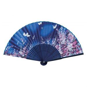 その他 和柄扇子 花に蝶(藍) 5893 CMLF-1553842