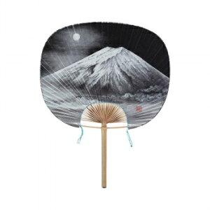 その他 民芸竹うちわ 丸竹うちわ 大和型 水墨画 富士山 8031 CMLF-1553630