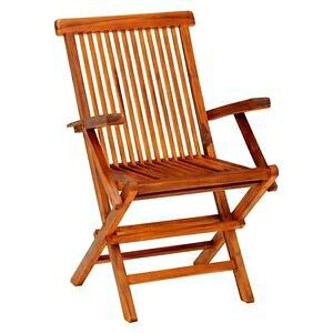 その他 折りたたみ椅子/アームチェア 【2脚セット 約幅54cm】 木製 チーク材 〔ベランダ デッキ テラス ガーデン〕 ds-2333914