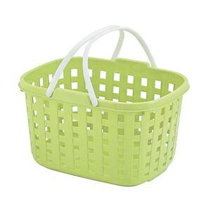その他 不動技研 スタッキングバスケット グリーン F24211 (洗濯かご おもちゃ 収納 カゴ 持ち手 付き) ds-2336789