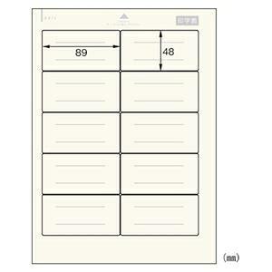 (まとめ) デビカ 貼ってはがせる名札 A4 10面 オフホワイト 【×10セット】 ds-2383380
