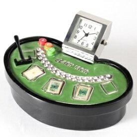 ミニチュア置時計 カジノ ブラックジャックテーブル/MC-C3413 ds-2386593