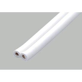エルパ 平形ビニールコード 一般配線用 4m 12A 1.25mm^2(0.18mm×50芯) ホワイト VFF-4LH (W) /ELPA 朝日電器