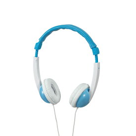 エルパ 子供用ヘッドホン ブルー RD-KH100(BL) /音が大きくなり過ぎないから、お子様も安心ボリューム抑制機能付き 80dBまで。 /ELPA 朝日電器