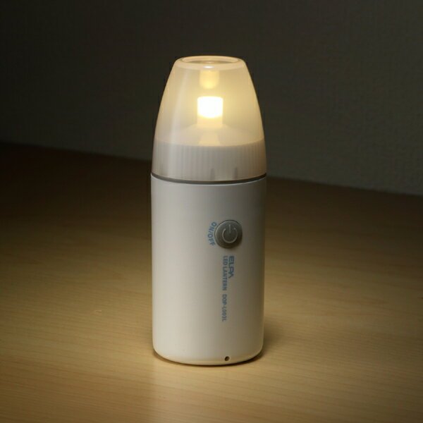 【アウトレット】ELPA LEDコンパクトランタン 35ルーメン 電球色相当 DOP-L003L 防沫型【同時購入注意】