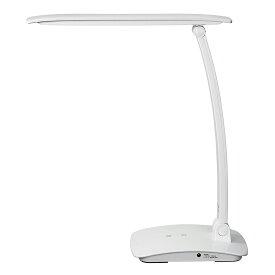 エルパ 4段階調光 LED 小型デスクライト AS-LED05(W) /電気スタンド 学習 デスク 勉強 机 書斎 机上 卓上 手仕事 目に優しい LEDライト 照明 ライト デスクスタンド 読書灯 寝室 おしゃれ /ELPA 朝日電器 アウトレット