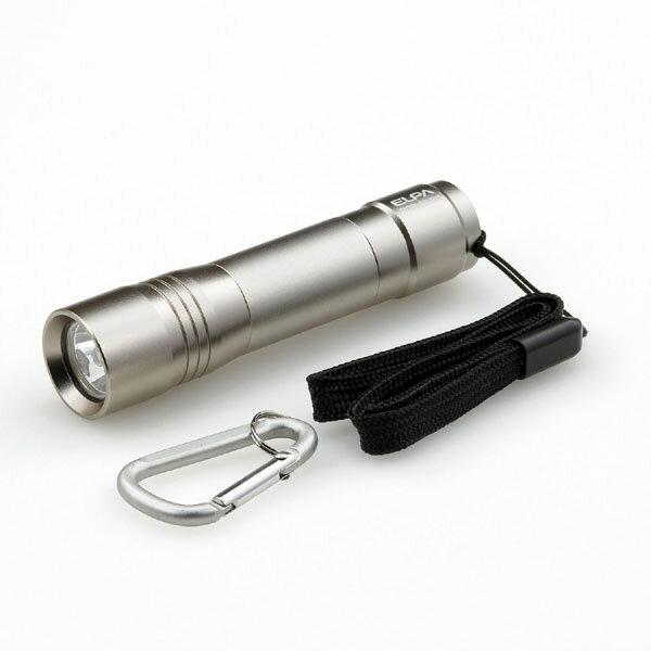 【アウトレット】ELPA LEDカラーアルミライト シャンパンゴールド 単3形×1本 DOP-EP301(CG)【同時購入注意】