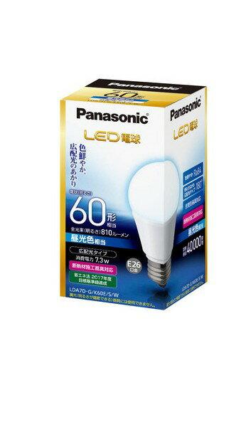 Panasonic パナソニック LED電球 広配光 60W形 昼光色相当 E26 LDA7DGK60ESW