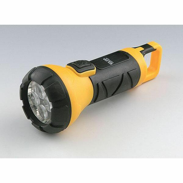 【アウトレット】ELPA LEDラバーライト 高輝度白色LED4灯 防滴仕様ハンガーフック付 DOP-023【同時購入注意】