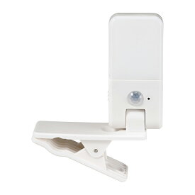 エルパ LEDセンサー付ライト クリップ式 PM-LCP01 /ELPA 朝日電器