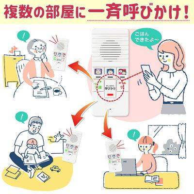 ワイヤレスインターホンELPAWIP-5150SET/DECT式で小型軽量&省エネ配線不要工事不要の簡単設置