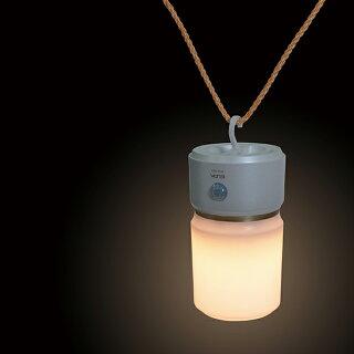 [3W電球色LED]もてなしライト(据置き型)HLH-1201(PW)/[乾電池式]人感&明暗センサーLEDナイトライト(足元灯)