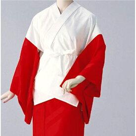 半襦袢 紋綸子ちりめん(赤) =和装下着 舞踊 日本舞踊 民踊 新舞踊=