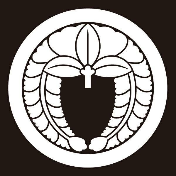 貼り紋 丸に下り藤(シールタイプ6枚1組) =着物、羽織、家紋、紋付=
