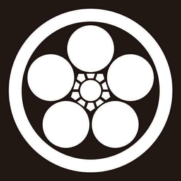 貼り紋 丸に梅鉢(シールタイプ6枚1組) =着物、羽織、家紋、紋付=