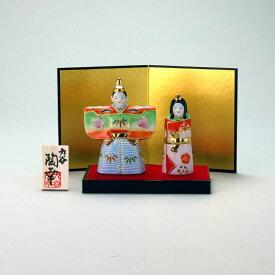 敬老の日 九谷焼 米寿 プレゼント 金婚式 3.5号立雛人形 紅黄盛【陶器 還暦祝い 退職祝 結婚祝い 贈り物 ペア 夫婦 誕生日 退職祝い プレゼント 男性 古希 喜寿 祝い 】