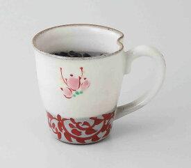 粉引蛸唐草 マグ(赤) 波佐見焼 和食器 陶器 はさみやき マグカップ 急須 コーヒーカップ 湯呑