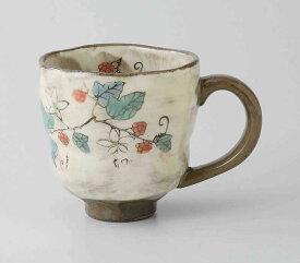 草花(木苺) マグ(赤) 波佐見焼 和食器 陶器 はさみやき マグカップ 急須 コーヒーカップ 湯呑