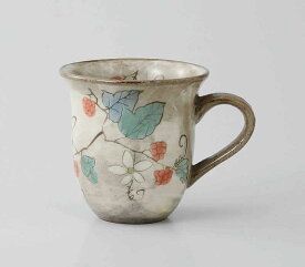 草花(木苺) ミニマグ(赤)波佐見焼 和食器 陶器 はさみやき マグカップ 急須 コーヒーカップ 湯呑